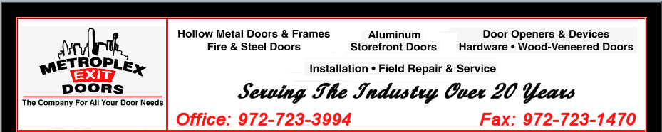 Hollow Metal Doors, Metal Frames, Door Hardware Arlington Texas